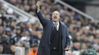 Rafael Benítez dirige un partido del Newcastle
