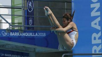 Paola Espinosa ejecuta un clavado en Barranquilla 2018