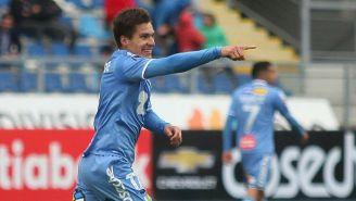 Cristian Insaurralde celebra gol con  O'Higgins