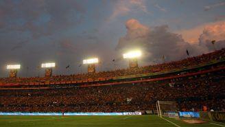 Vista panorámica del Universitario durante un juego de Tigres
