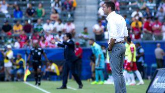 Diego Alonso, durante el juego contra Pachuca