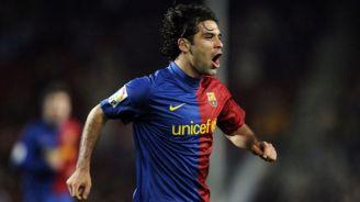 Márquez celebra una anotación con el Barça en España
