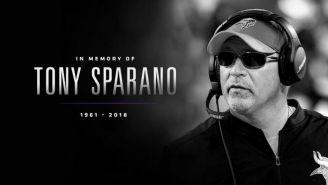Tony Sparano, entrenador de la línea ofensiva de Minnesota