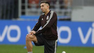 Herrera, durante un entrenamiento del Tri