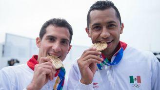 Rommel Pacheco y Jahir Ocampo tras conquistar el oro