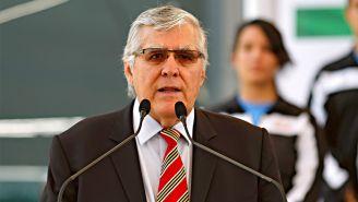 Nelson Vargas da un discurso en las instalaciones de la Conade