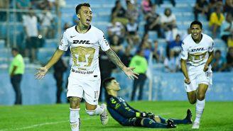 Martín Rodríguez festeja el gol de los Pumas