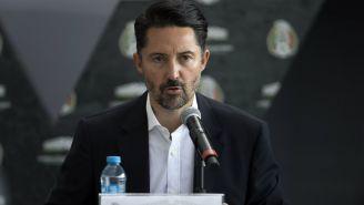 Yon de Luisa, durante una conferencia de prensa