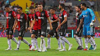 Jugadores del Atlas tras el partido de Copa MX