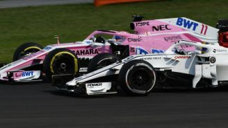 Monoplaza de Sergio Pérez en el autódromo de Hungaroring