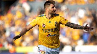 Gignac festeja gol contra Tijuana en la J2 del A2018