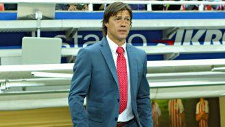 Matías Almeyda, previo a un juego de Chivas en el Estadio Akron