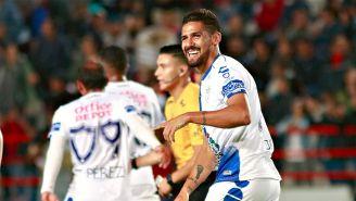 Franco Jara celebra un gol en Copa MX