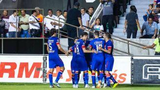 La Máquina celebra su gol ante Zacatepec