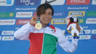 Madaí Pérez posa con su medalla de oro en Barranquilla 2018