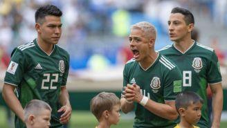 Chicharito lanza un grito previo al juego vs Brasil en Rusia 2018