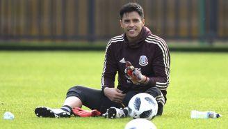 Alfredo Talavera, durante un entrenamiento con el Tricolor