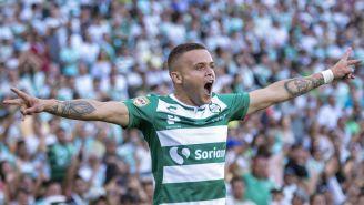 Jonathan Rodríguez marca gol con Santos Laguna en el TSM