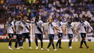 Jugadores de Pueblas, tras el juego contra Toluca