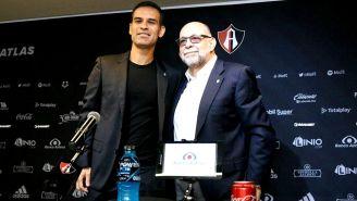 Rafa Márquez, durante su presentación oficial como presidente deportivo de Atlas