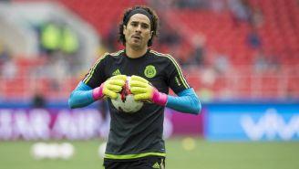 Guillermo Ochoa portando el uniforme de la Selección Nacional