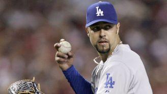 Esteban Loaiza, en un juego con los Dodgers