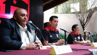 Edgar Zapata, en conferencia de presa para presentar la LFP