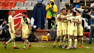 América festeja gol de Bruno Valdez contra Rayados