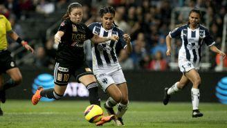 Tigres y Monterrey Femenil durante la Final del C2018