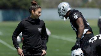 Kelsey Martínez durante una sesión de entrenamiento