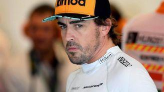 El piloto español Fernando Alonso después de un carrera