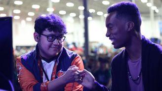 MkLeo y Samsora, durante su enfrentamiento en Smash Con 2018