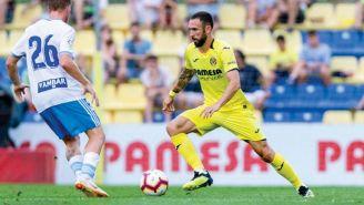 Miguel Layún en un juego del Villarreal