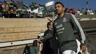 Marco Fabián previo a un partido de Selección Mexicana