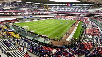 La afición que había presente en el Estadio Azteca en el CAZ vs LEO