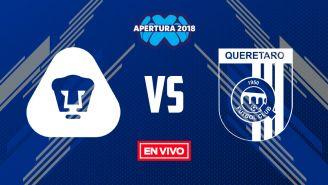 EN VIVO y EN DIRECTO: Pumas vs Querétaro