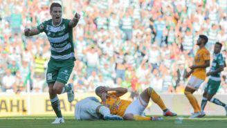 Furch celebra con alegría su gol frente a los Tigres