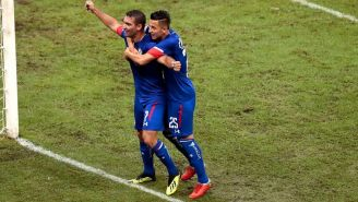 El festejo del gol de Martín Cauteruccio