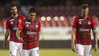 Jugadores de Veracruz tras el partido contra Chivas