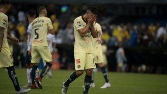 Bruno Valdez luego de ser expulsado en el partido contra Pumas