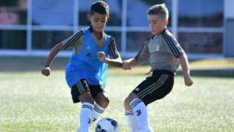 Cris Jr. durante el entrenamiento con la Juventus