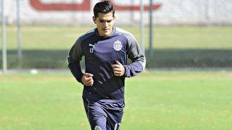 Chapo Sánchez en un entrenamiento con Chivas