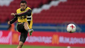 Marco Fabián en una práctica con Selección Mexicano