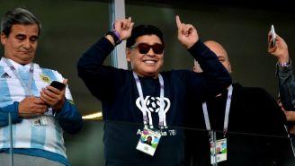 Maradona, durante el Mundial de Rusia 2018