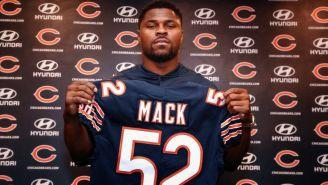 Khalil Mack, durante su presentación con los Chicago Bears