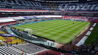 Vista del Estadio Azteca desde adentro
