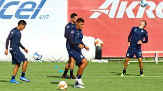 Carlos Salcido, durante un entrenamiento con Chivas