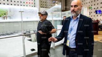 Diego Armando Maradona, en su llegada a México