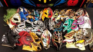 Máscaras de Rey Mysterio que estarán en la exposición