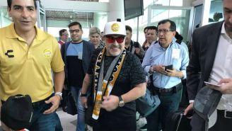 Maradona, en su llegada a Sinaloa el viernes pasado